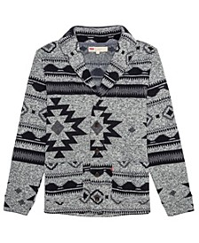 Men's Reverve Geometric Fleece Cardigan