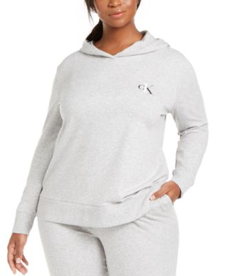 CK One Plus Size French Terry Lounge Hoodie
