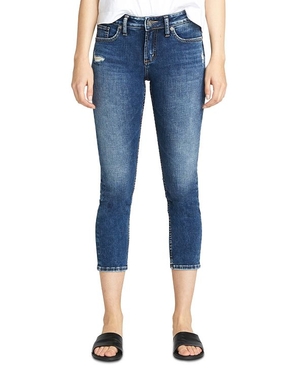 Silver Jeans Co. Elyse Slim Cropped Jeans