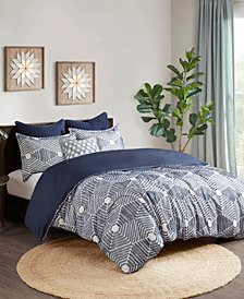 INK+IVY Ellipse 3-Piece Full/Queen Cotton Jacquard Duvet Set