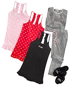 Love & Kisses Sleepwear & Slipper Separates, Created for Macy's
