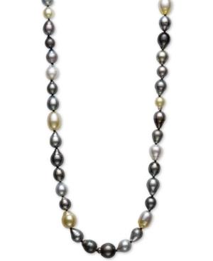 "Multicolor Cultured Pearl 34"" Strand Necklace"