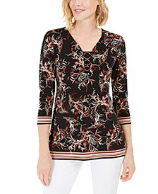 Printed O-Ring Tunic, Created for Macy's