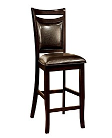 Traditional Style Counter Height Chair, Set of 2