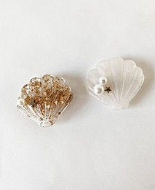 Seashell Hair Clip Duo