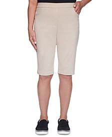 Petite Classics Stretch Pull-On Bermuda Shorts