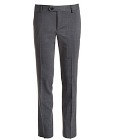 Big Boys Classic-Fit Stretch Gray Tonal Plaid Suit Pants