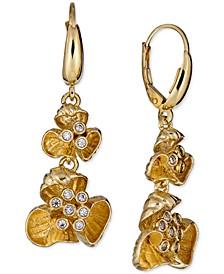 Diamond Flower Drop Earrings (1/4 ct. t.w.) in 18k Gold-Plated Sterling Silver