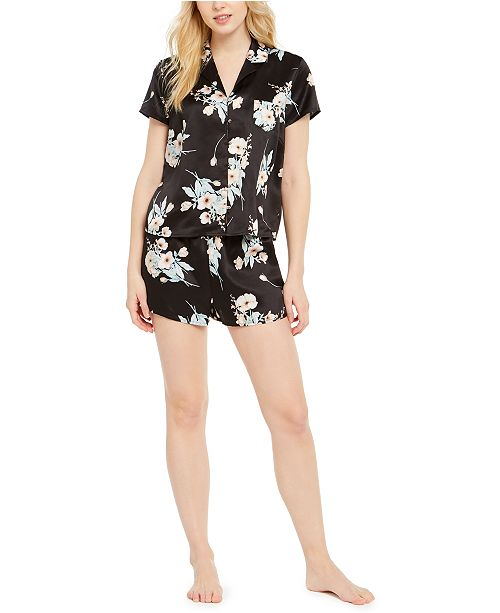 INC International Concepts INC Printed Short Sleeve Top & Shorts Pajama Set, Created for Macy's