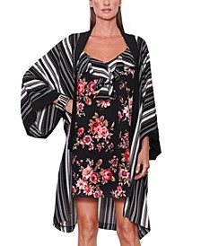 Mollie Stripe Duster Wrap Overlay