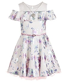 Big Girls Belted Skater Dress