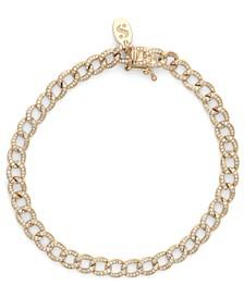 Diamond (1 ct. t.w.) Cuban Link Bracelet in 14K Yellow Gold
