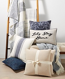 Blue and White Decorative Pillow and Throw Collection