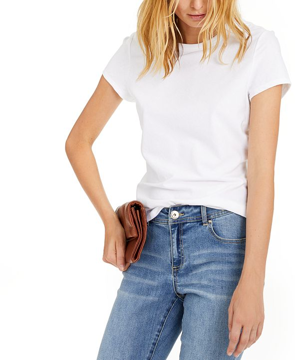 INC International Concepts INC Cotton Crewneck Top, Created for Macy's