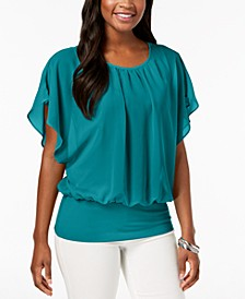 Petite Flutter Sleeve Top, Created for Macy's