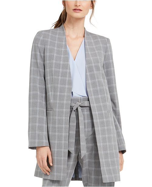 Calvin Klein Windowpane Topper Jacket