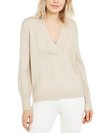 INC Deep V-Neck Tunic Sweater, Created for Macy's