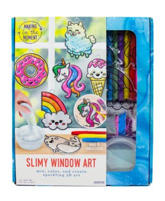 Making in the Moment Slimy Window Art