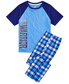 Big Boys 2-Pc. Weekend Warrior Pajamas Set