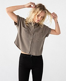 Thread Supply Soft Cropped Button Down