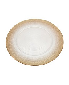 Circle Charger Plate White Champagne
