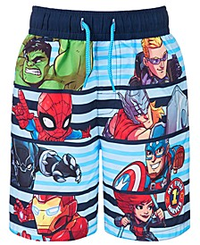 Toddler Boys Avengers Swim Trunks