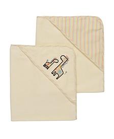 Neutral Giraffe 2 Pack Hooded Towel Set