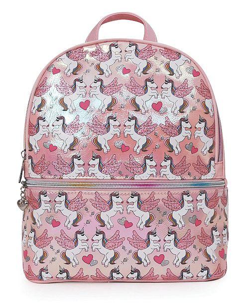 OMG! Accessories Fly Away Unicorn Metallic Mini Backpack