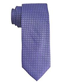 Men's Medallion Design Silk Tie