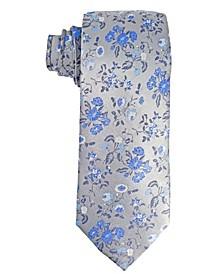 Men's Floral Design Silk Tie