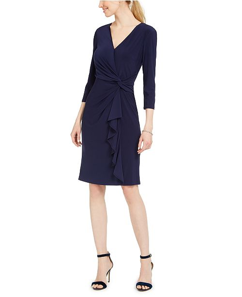 Jessica Howard Ruched Jersey Dress