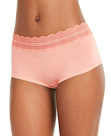 Women's Lace Trim Hipster Underwear QD3781