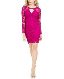Lace Keyhole Bodycon Dress