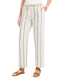 Striped Linen Pants, Created for Macy's