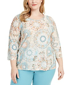 Plus Size Chesapeake Bay Tie-Dyed Top