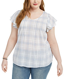Style & Co Plus Size Plaid Top, Created for Macy's
