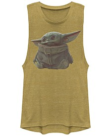 Juniors' The Mandalorian The Child Sitting Festival Muscle Tee