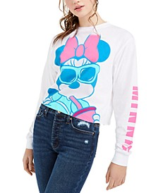 Juniors' Minnie Mouse Long-Sleeved Graphic T-Shirt by Jerry Leigh