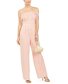 Feather-Top Jumpsuit