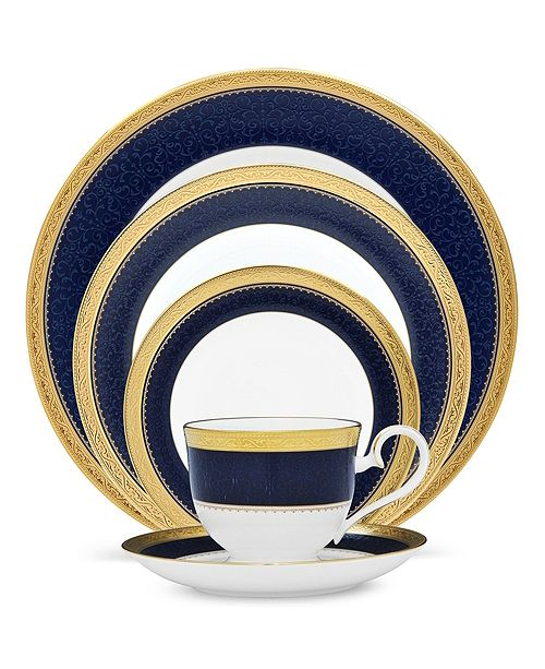 Noritake Dinnerware, Cobalt Gold Collection