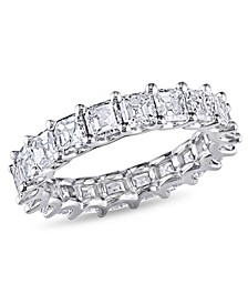 Asscher-Cut Certified Diamond (5 ct. t.w.) Eternity Band in 18k White Gold
