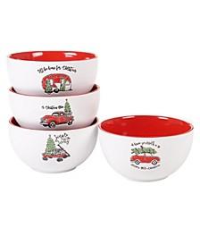 Holly Jolly 4-Pc. Ice Cream Bowls