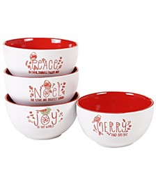 Holiday Greetings 4-Pc. Ice Cream Bowls