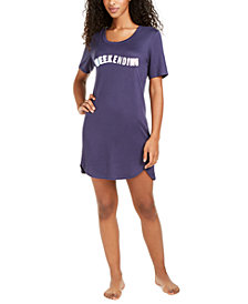 Jenni Printed Knit Sleep Shirt Nightgown, Created for Macy's