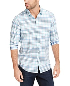 Men's Regular-Fit Quick-Dry Performance Stretch Plaid Shirt, Created for Macy's