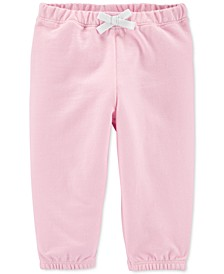 Baby Girls Pull-On Cotton French Terry Pants