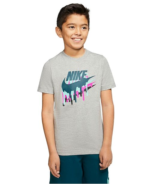 Nike Big Boys Melted Crayon Logo-Print Cotton T-Shirt