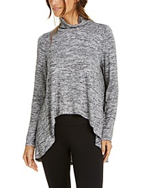 Funnel-Neck High-Low Hem Top