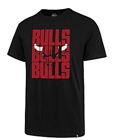 Men's Chicago Bulls Triple Stack Repeat Super Rival T-Shirt