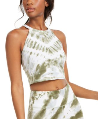 Tie-Dyed Logo Cropped Top
